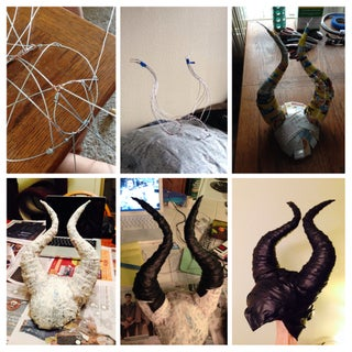 Leather Wrapped Maleficent Horns