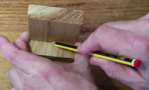 Prepare for Chiselling Out the Groove in the Top and Bottom Pieces