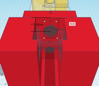 Design Process - Moving Grip - Load Cell Mounting Hole