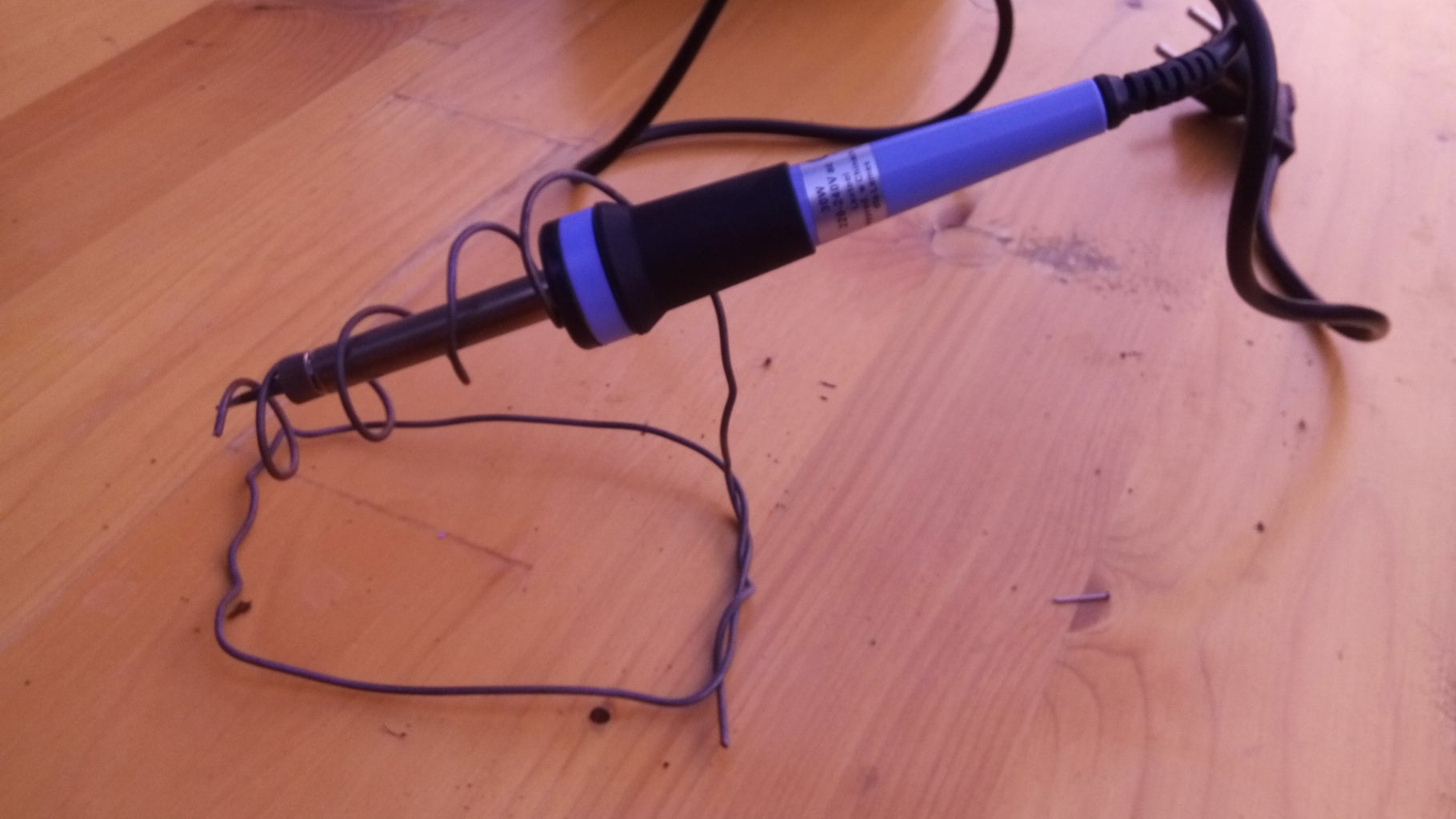 Soldering Iron Stand (less Than $0.5)