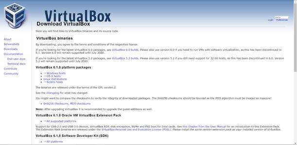 Descargar VirtualBox