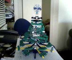 Mini K'nex Christmas Tree (table Centerpiece)