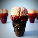 Chocolate Raspberry Brain Halloween Dessert