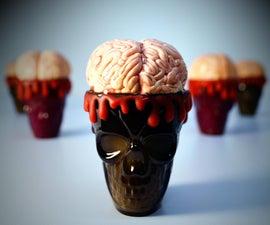 巧克力树莓脑万圣节甜点