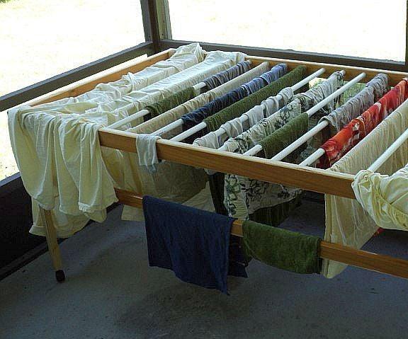 A Solar Drying Rack