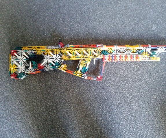Knex Random Bullpup Model (Slightly modded)