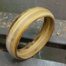 Turning a plywood bracelet - PIP