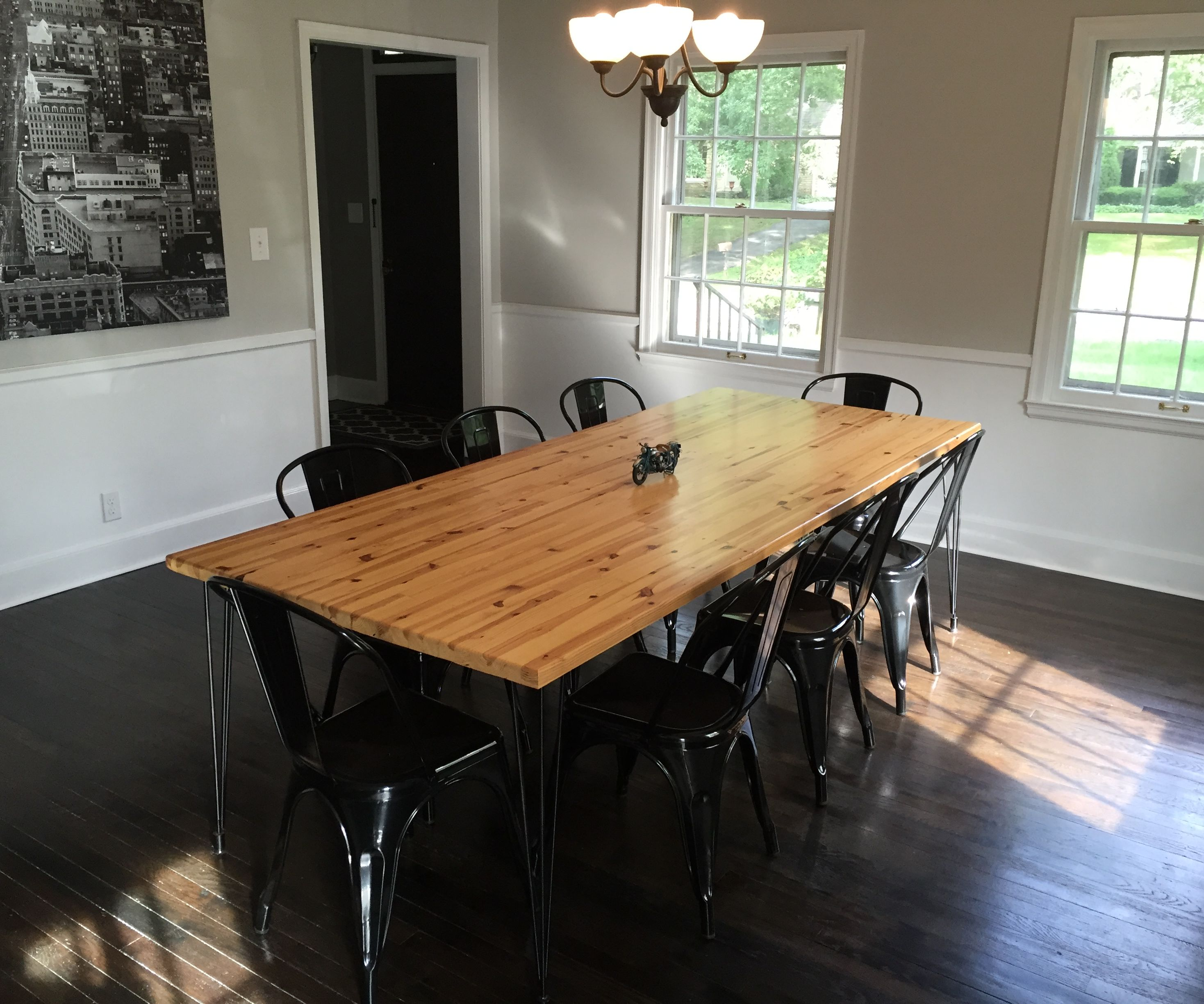 Dining Room Table From Reclaimed Wall Studs