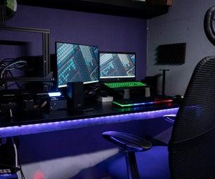 Smart Desk LED Light | Smart Lighting W/ Arduino | Neopixels Workspace
