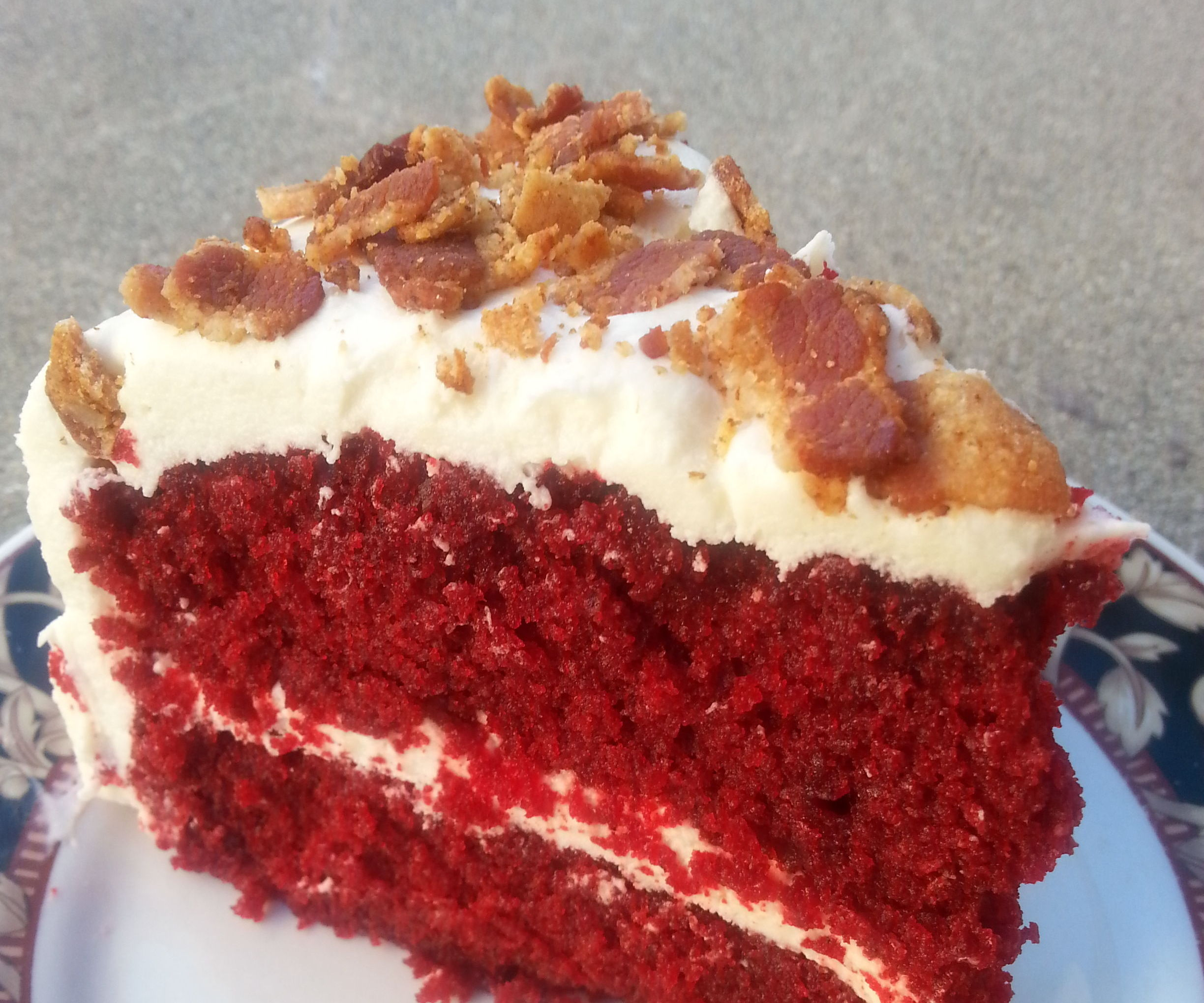 Red Velvet Bacon Cake