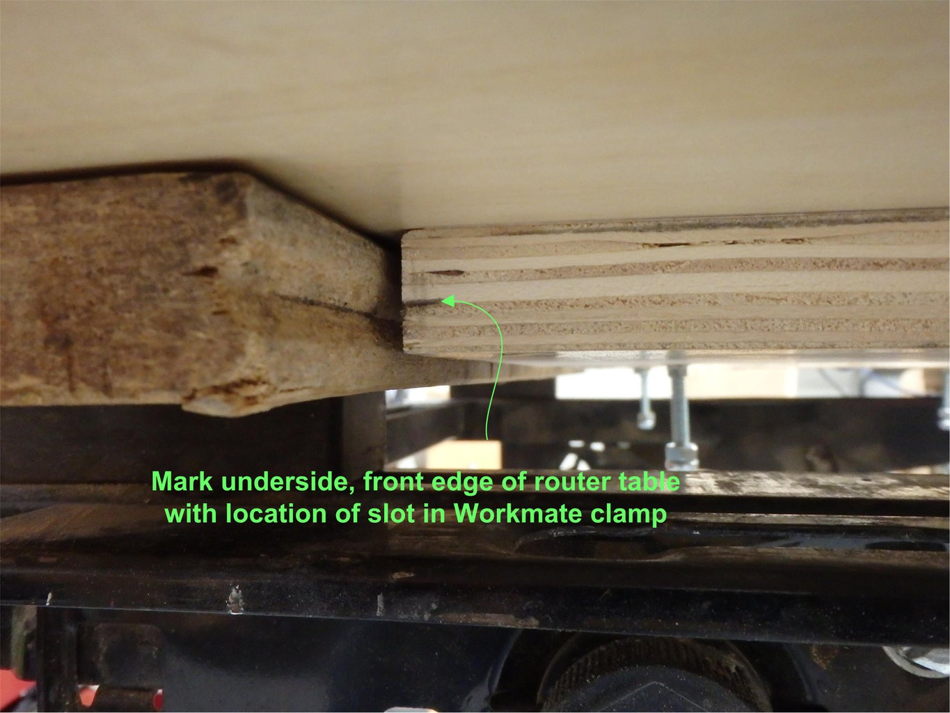 Optional Front Workmate Clamp Groove Catch