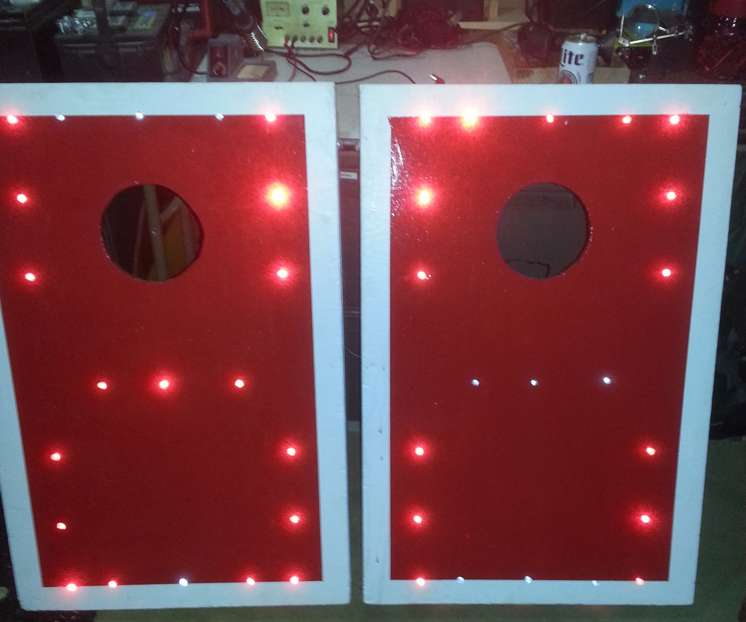 LED Bag Toss boards and Bags