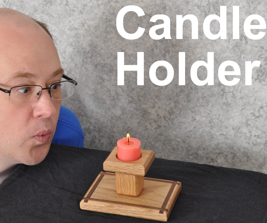 Candle Holder with Decorative Inlay