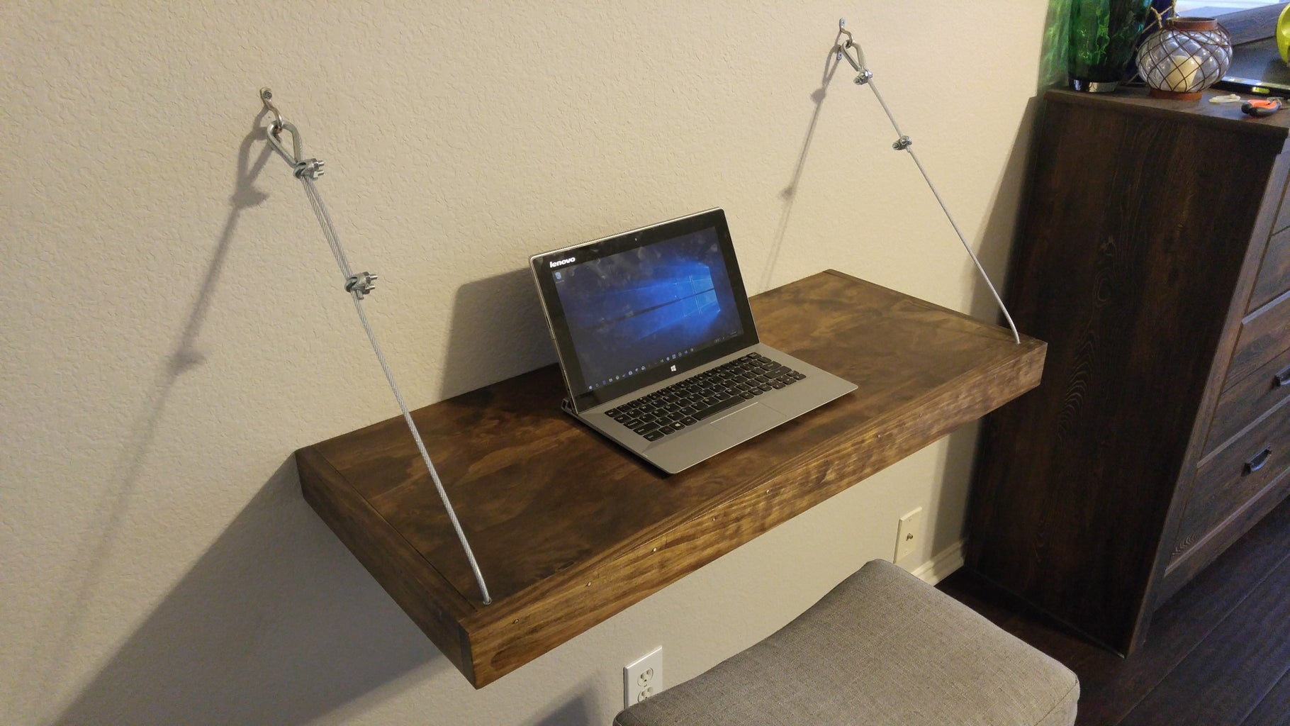 Mount Desk and Add Steel Wire