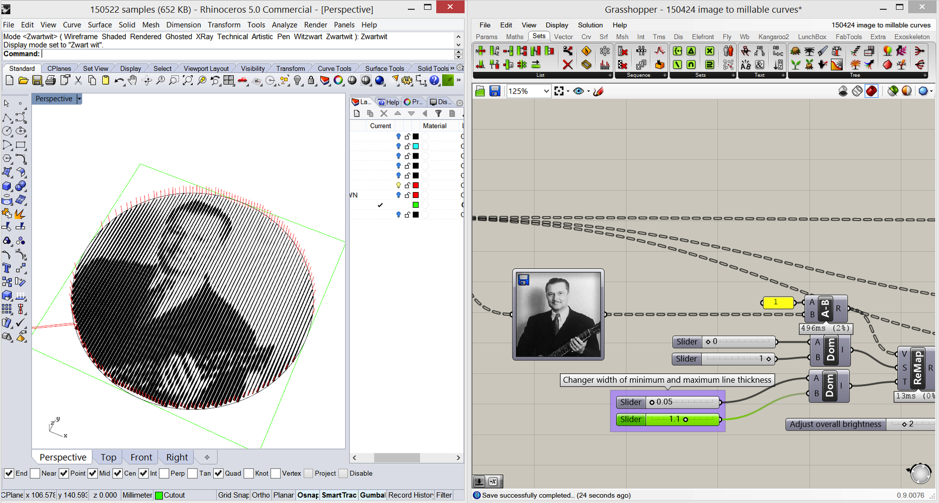 Example 1: Convert Image to 3D-milling Using a V-bit