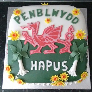 Fondant Leek. Welsh Leek for St Davids Day