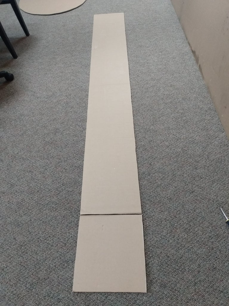 Cut the Large Cardboard Pieces