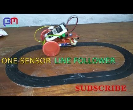 ONE SENSOR LINE FOLLOWING ROBOT
