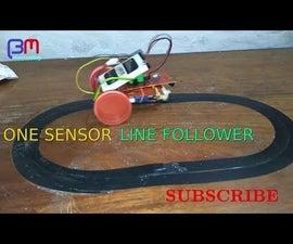 ONE SENSOR LINE FOLLOWING ROBOT