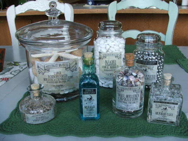 Steampunk, Victorian, Mad Scientist Apothecary Bottles