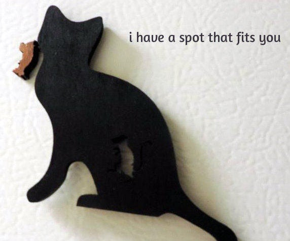 Cat and Mouse Fridge Magnet