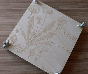 Laser Cut Wooden Flower Press