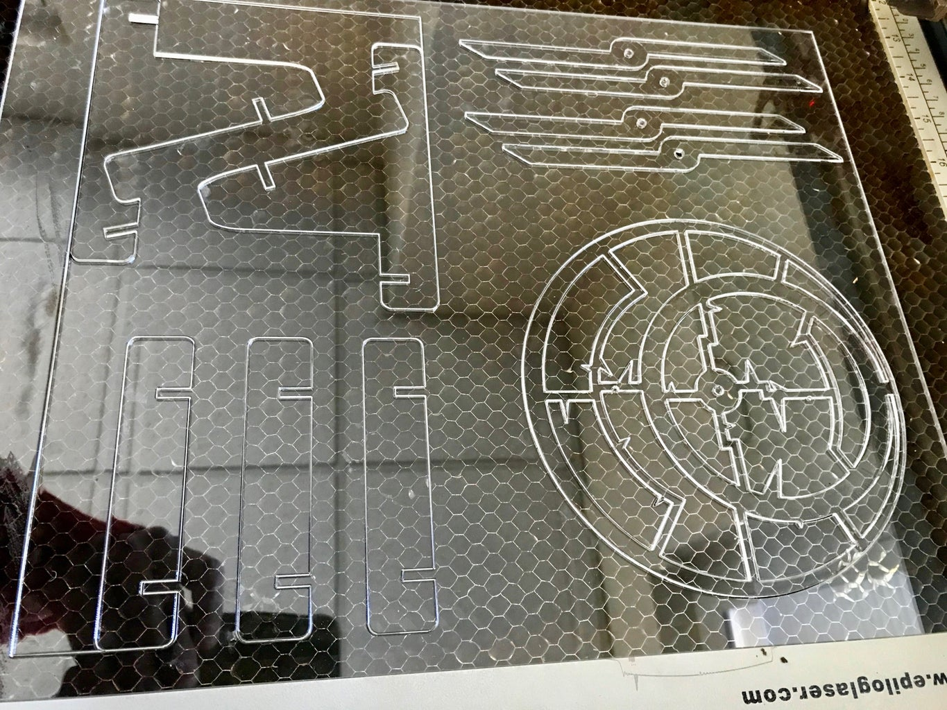 Etching and Cutting the Parts