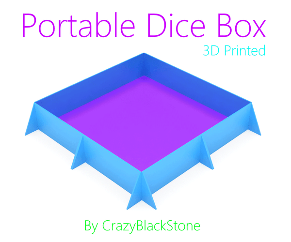 3D Printed Extremely Portable Dice Box