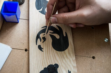 Sanding and Touching Up