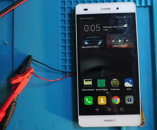 Smartphone With External Battery (Hacked Mobile)