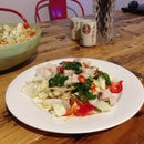 Raw Swordfish Asian Salad