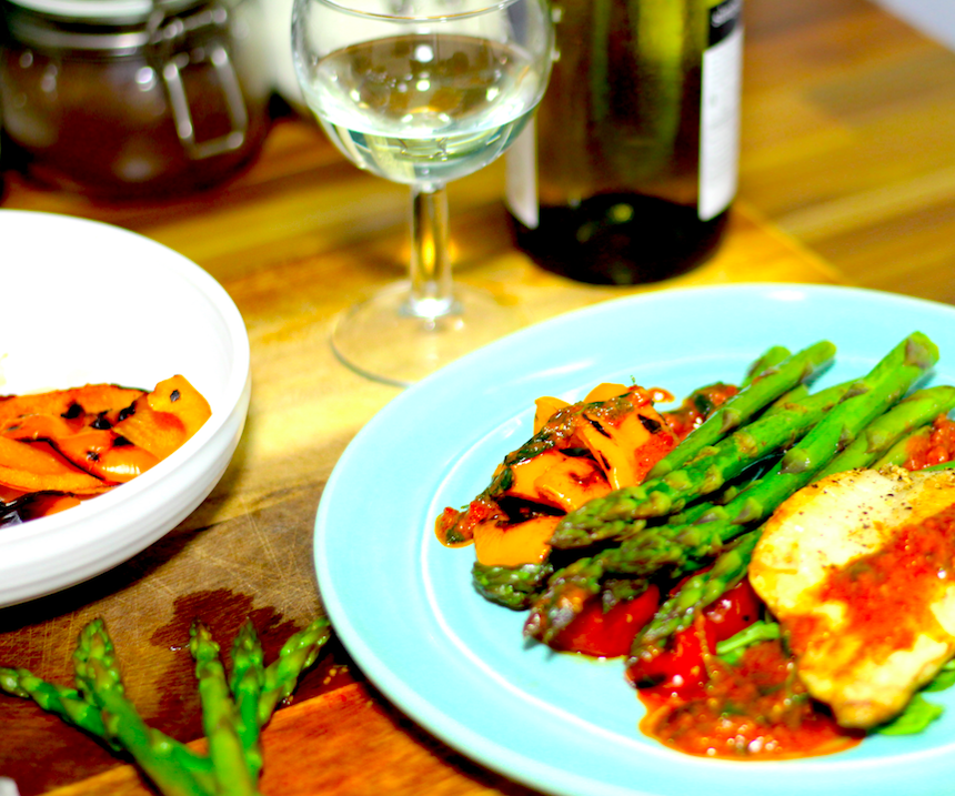 Pan Fried Sea Bass with Chargrilled Vegetables | Cooking with Benji