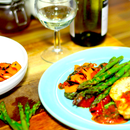 Pan Fried Sea Bass With Chargrilled Vegetables   Cooking With Benji