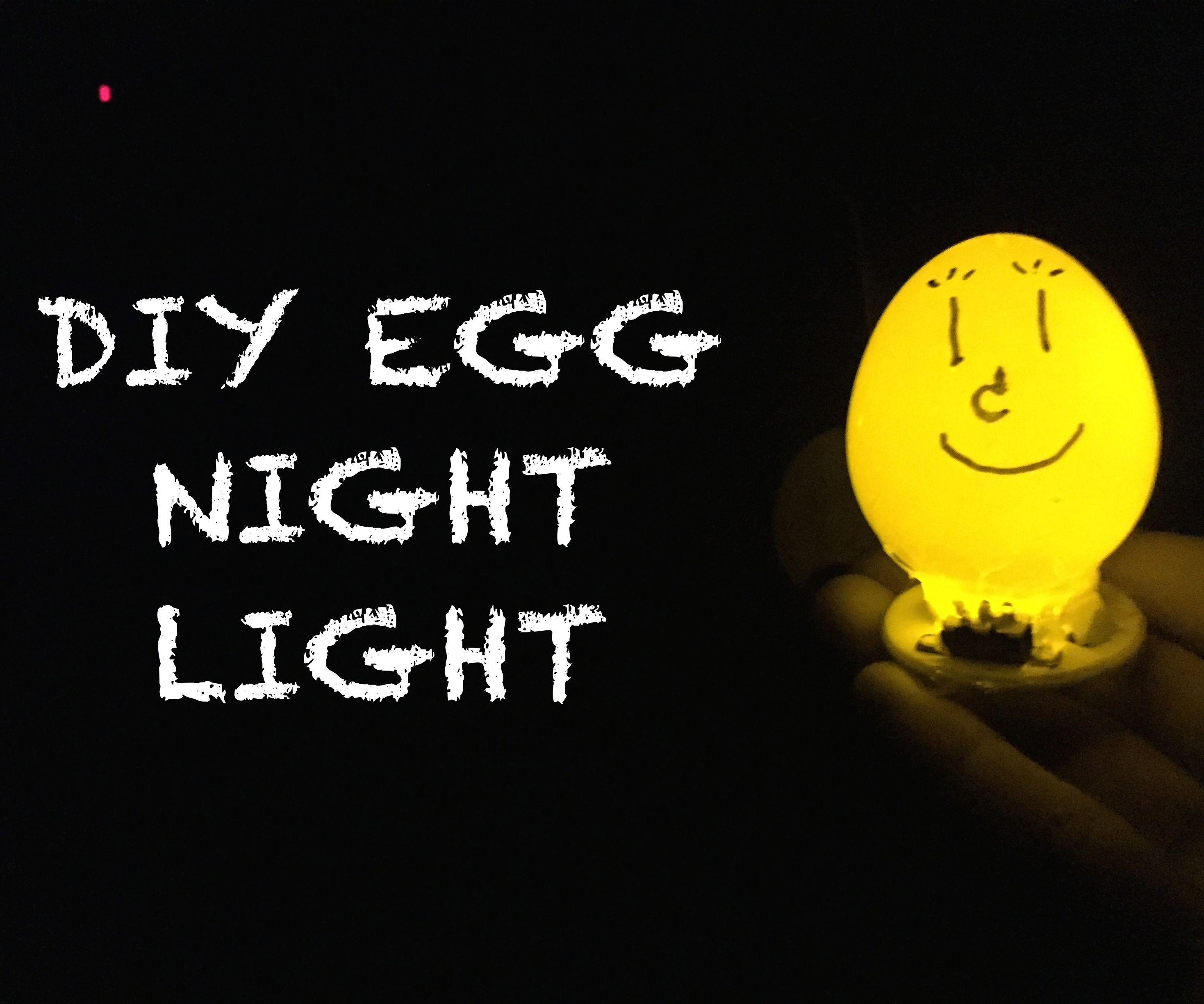 DIY EGG NIGHT LAMP
