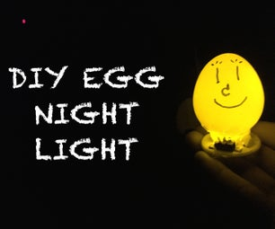 DIY EGG NIGHT LAMP