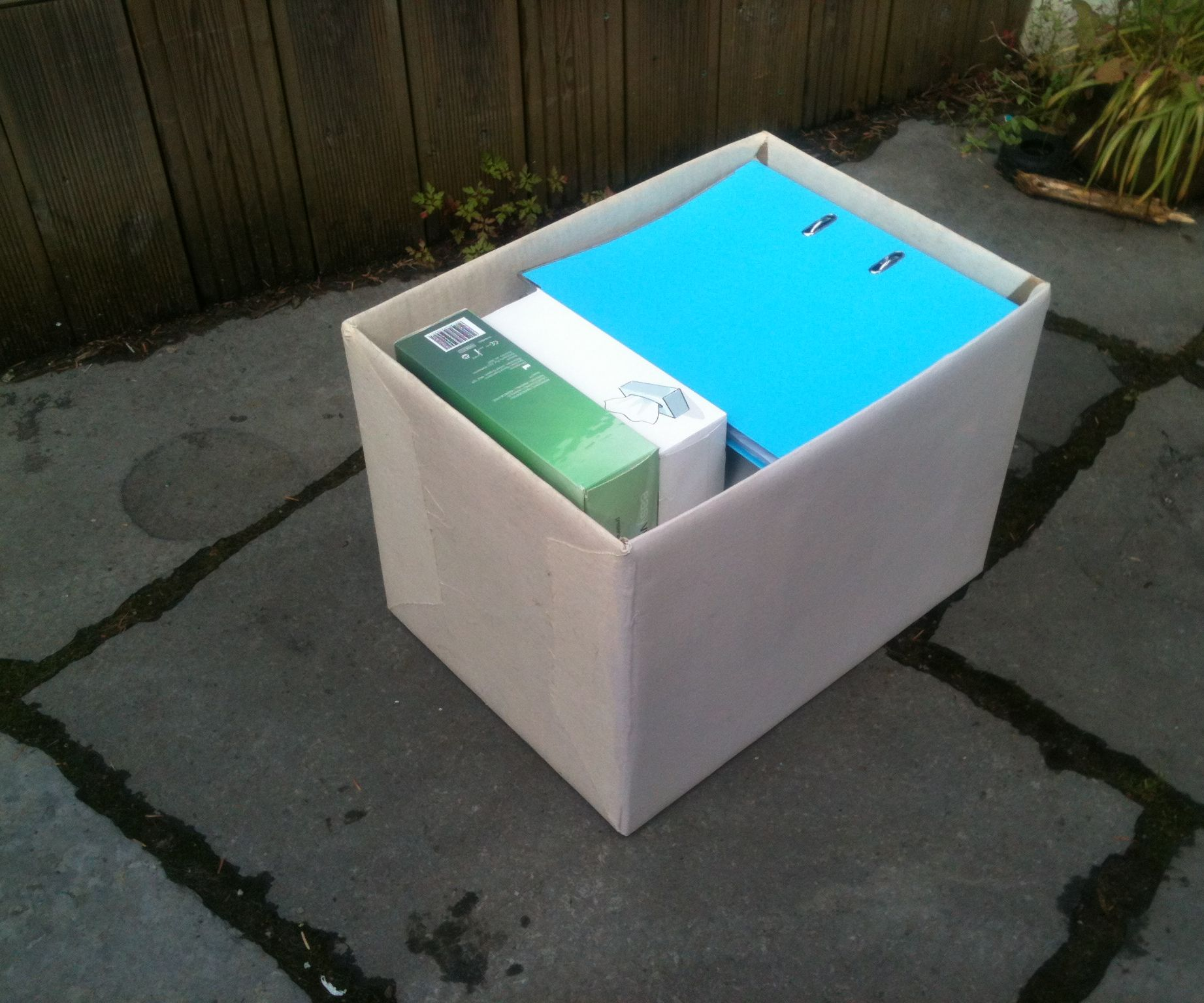 Canvas re-inforced cardboard storage box