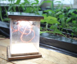 Solar Lamp With Reused Lithium Cells