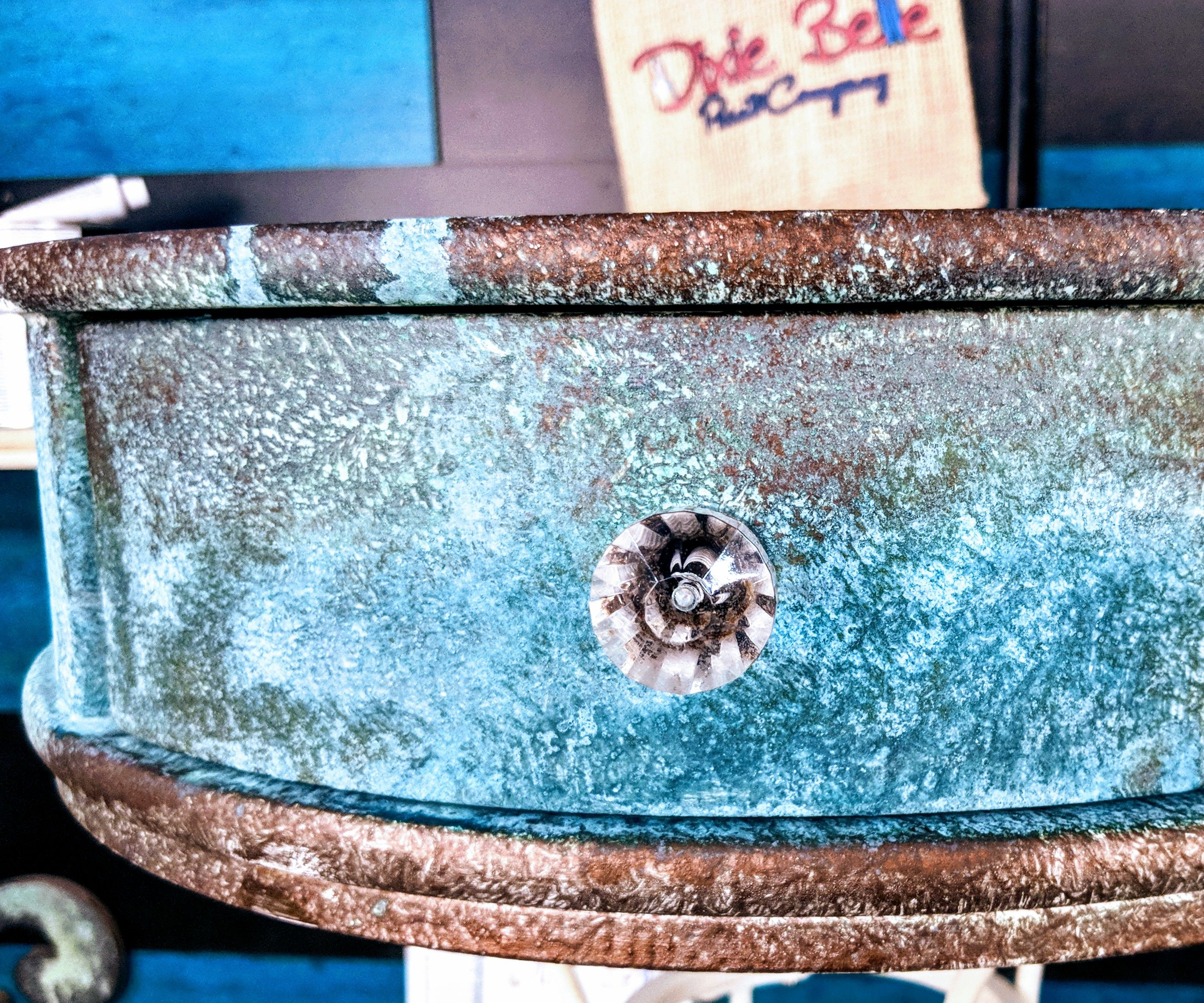 How to Upcycle Furniture With a Metal Patina Finish
