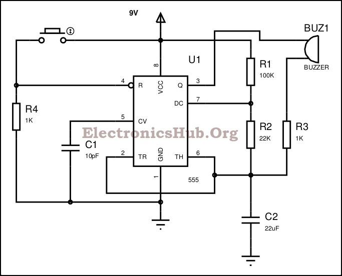 Panic Alarm Circuit Diagram
