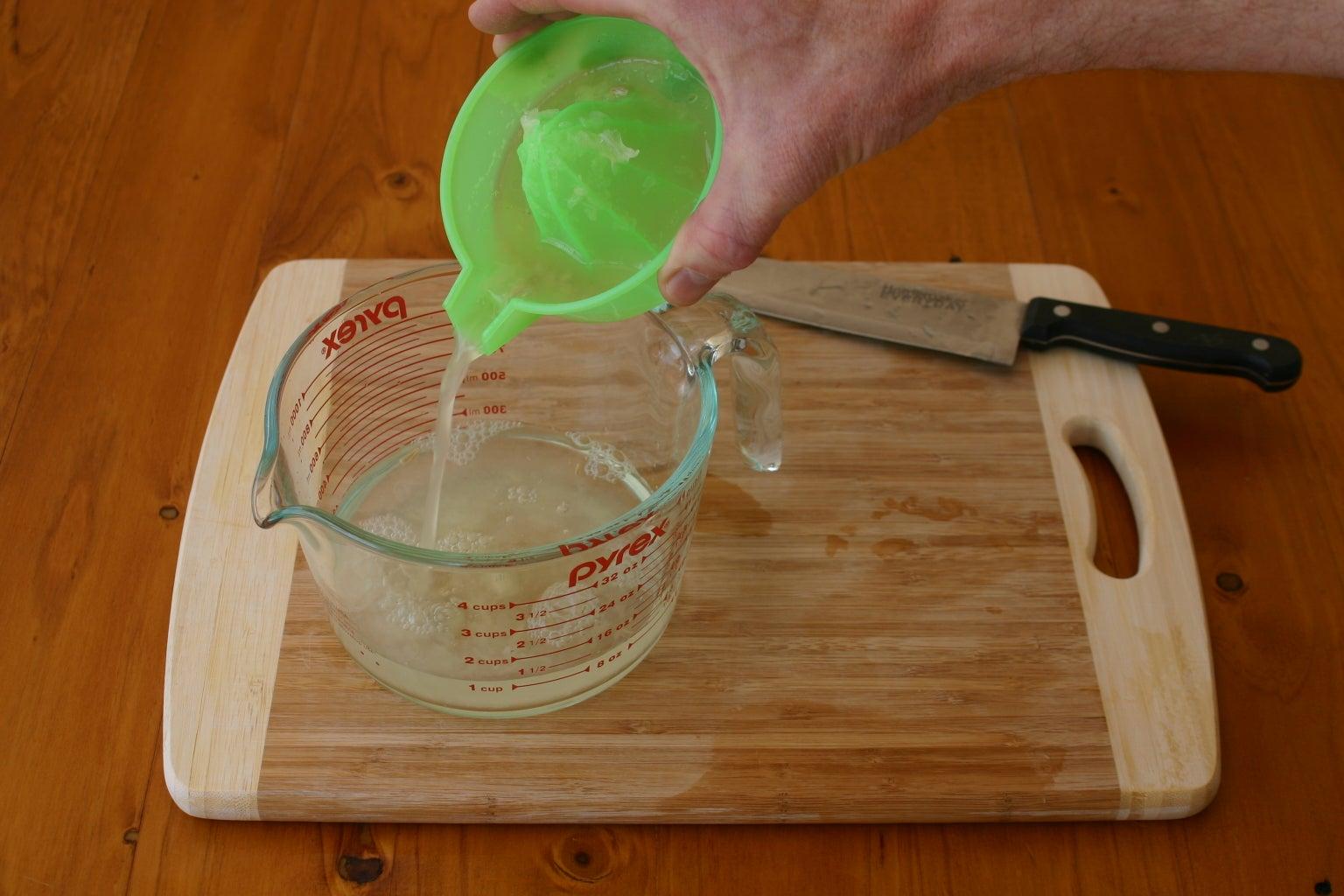 Pour the Lemon Juice Into the Microwave-safe Cup