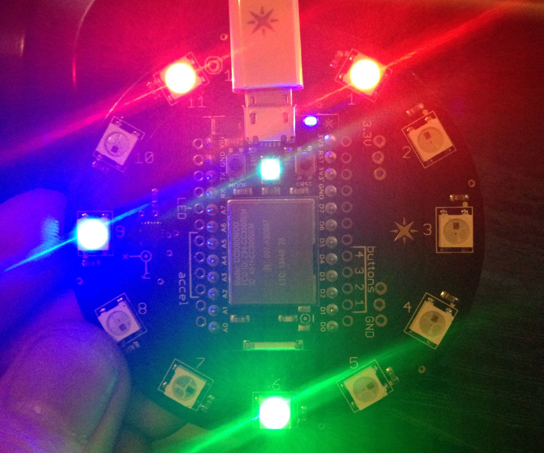 Spark Core Light Clock