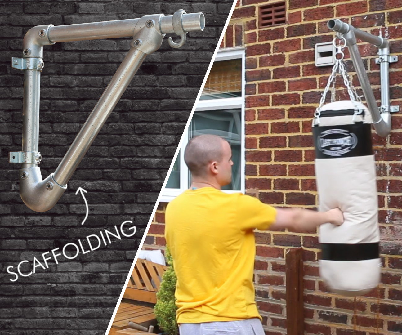 How to Make a Punch Bag Wall Bracket Using Scaffold Poles