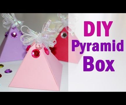 DIY Pyramid Gift Box - How to Make Easy Paper Box