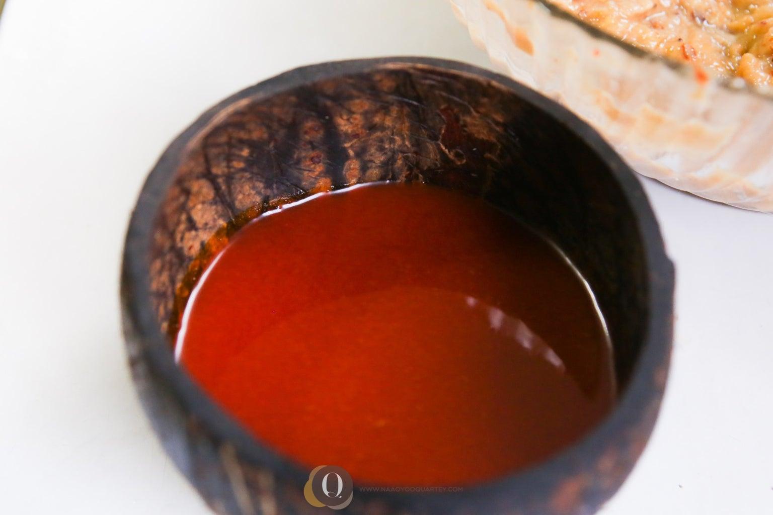 Pour Palm Oil Into Saucepan