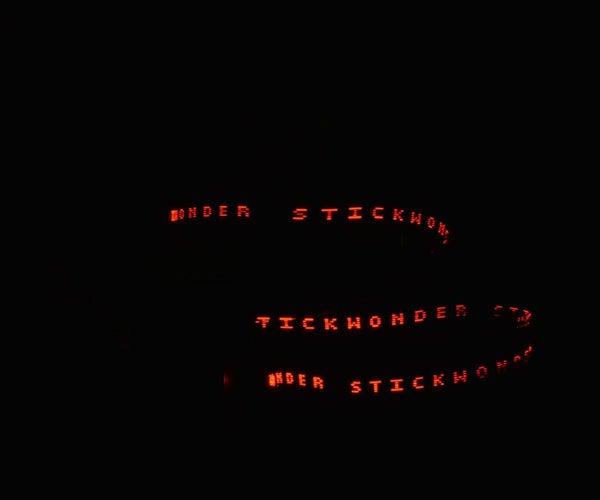 Magic Wand  POV Message Display Using Bluetooth Module