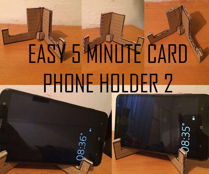 Easy 5 Minute Card Phone Holder
