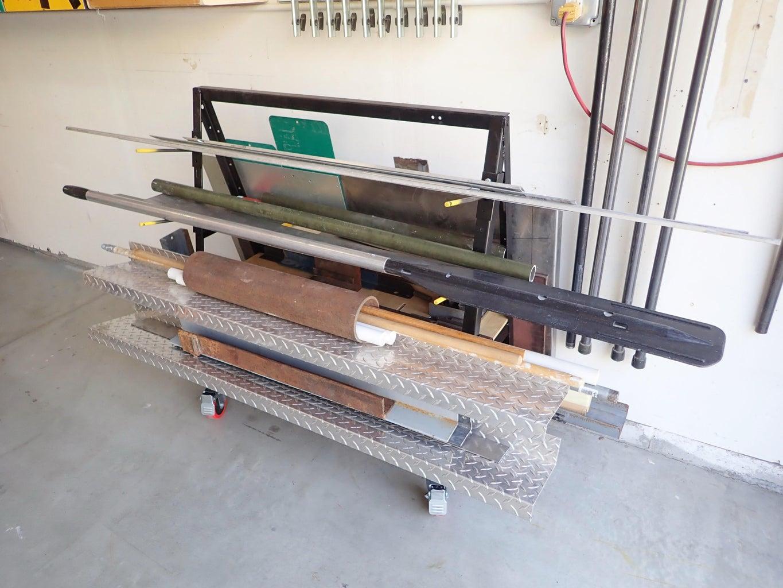 Metal A-Frame Storage Cart