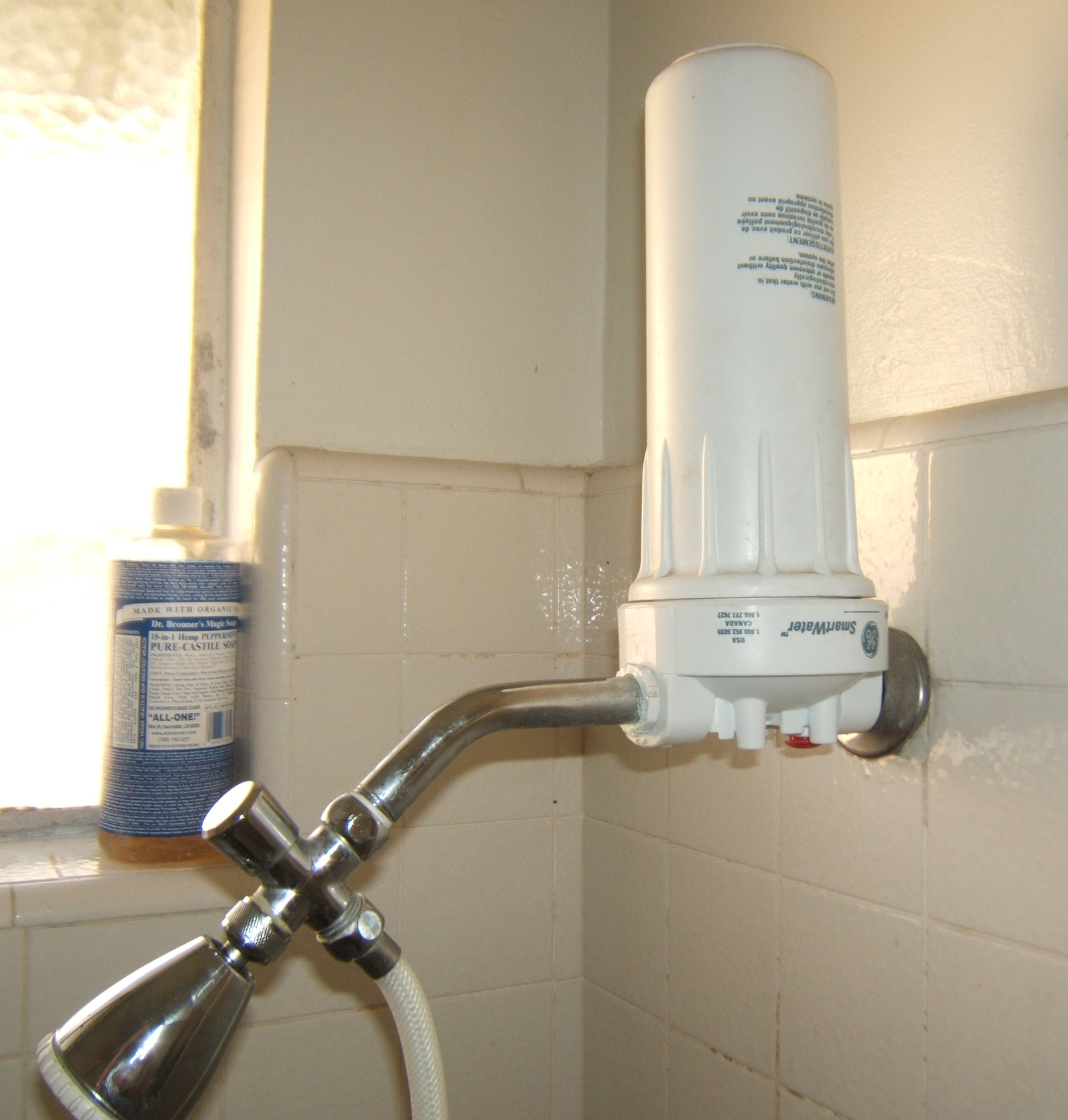 SHOWER FILTER FOR CHEAP Bad water make you itch? Make a great Shower Filter for 1/2 of buying one