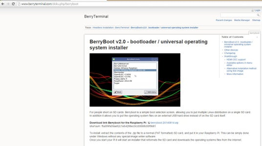 Download BerryBoot and Put on SD Card
