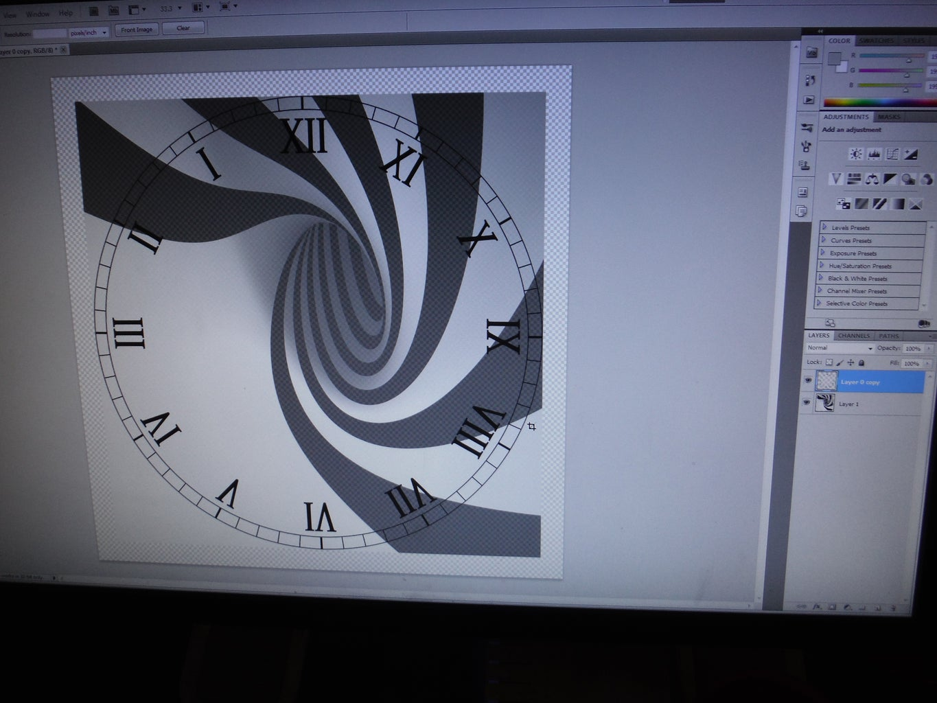 Making a New Clock Face